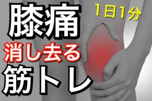 【1日たった1分】膝の痛みを消し去る筋トレ